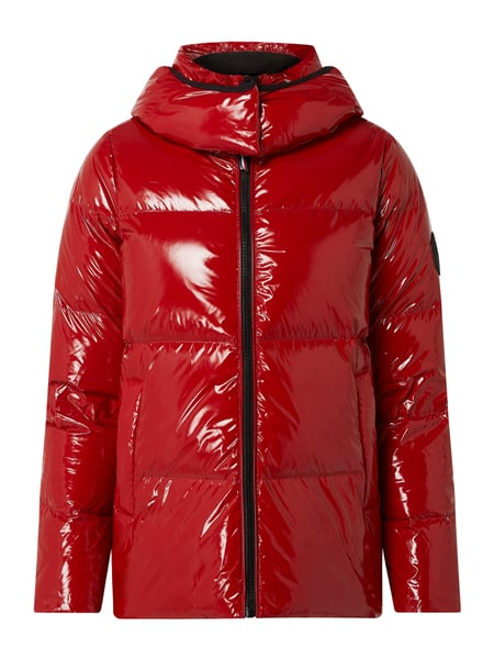 Tommy Hilfiger Steppjacke in Lack-Optik mit Wattierung Rot - 1