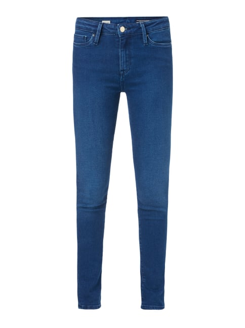 Stone Washed Jegging Fit Jeans Blau / Türkis - 1