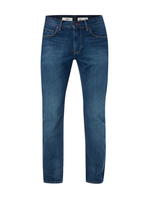 Stone Washed Regular Fit Jeans Blau / Türkis - 1