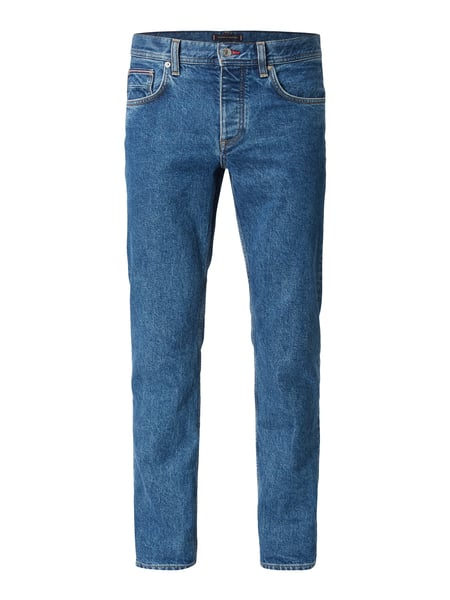 Tommy Hilfiger Stone-washed regular fit jeans Blauw - 1