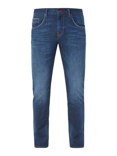 Tommy Hilfiger Stone Washed Straight Fit Jeans Blau