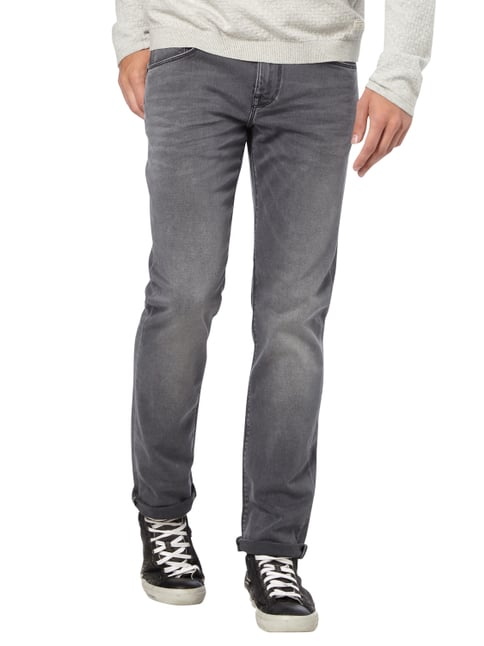 Tommy Hilfiger Stone Washed Straight Fit Jeans Mittelgrau - 1