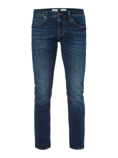 Tommy Hilfiger Stone Washed Straight Fit Jeans Modell 'Denton' Blau - 1
