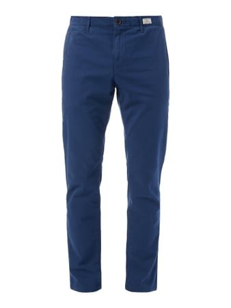 Straight Fit Chino aus Baumwoll-Elasthan-Mix Blau / Türkis - 1