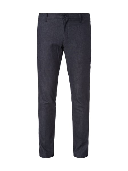 Straight Fit Chino in Denimoptik Blau / Türkis - 1