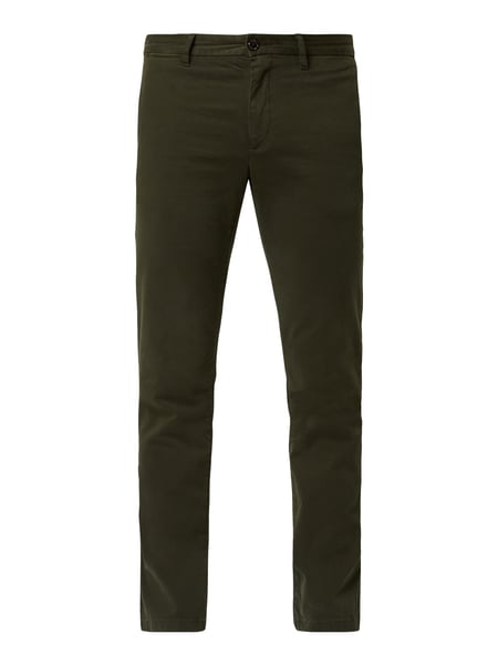 Tommy Hilfiger Straight Fit Chino mit hohem Stretch-Anteil Modell 'Denton' - 'Flex Technology' Grün - 1