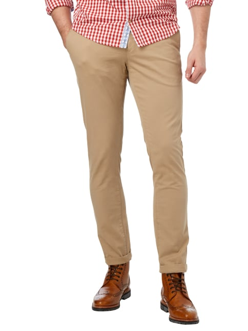 Tommy Hilfiger Straight Fit Chino mit Stretch-Anteil Beige - 1
