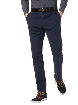Tommy Hilfiger Straight Fit Chino mit Stretch-Anteil Dunkelblau - 1