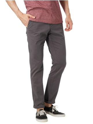 Tommy Hilfiger Straight Fit Chino mit Stretch-Anteil Dunkelgrau - 1