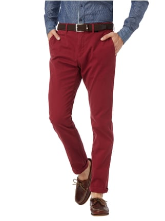 Tommy Hilfiger Straight Fit Chino mit Stretch-Anteil Dunkelrot - 1
