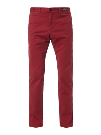 Straight Fit Chino mit Stretch-Anteil Rot - 1