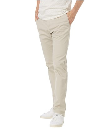 Tommy Hilfiger Straight Fit Chino mit Stretch-Anteil Ecru - 1