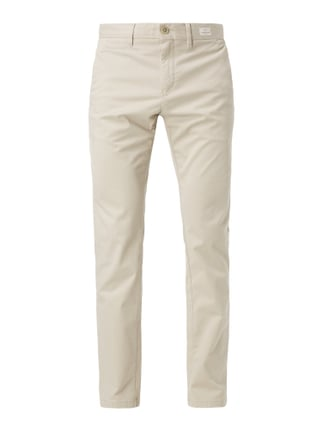 Straight Fit Chino mit Stretch-Anteil Weiß - 1