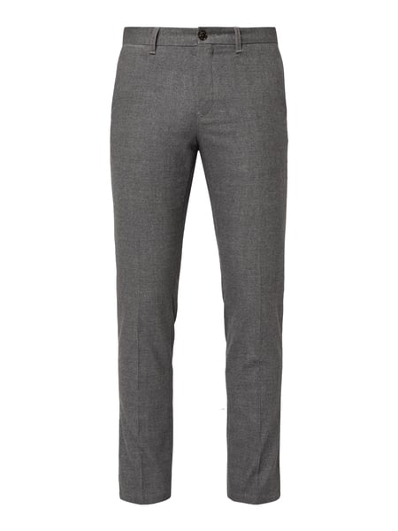 Tommy Hilfiger Straight Fit Chino mit Stretch-Anteil Grau - 1