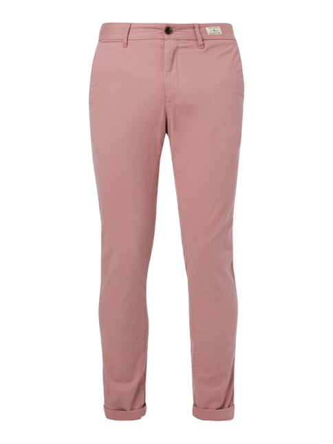 Straight Fit Chino mit Stretch-Anteil Rosé - 1