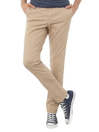 Tommy Hilfiger Straight Fit Chino mit Stretch-Anteil Sand - 1