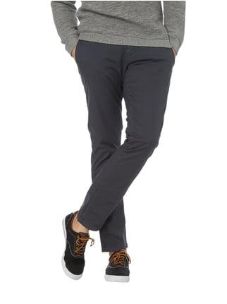 Tommy Hilfiger Straight Fit Chino mit Webstruktur Graphit meliert - 1