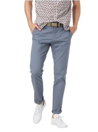 Tommy Hilfiger Straight Fit Chino mit Webstruktur Marineblau meliert - 1