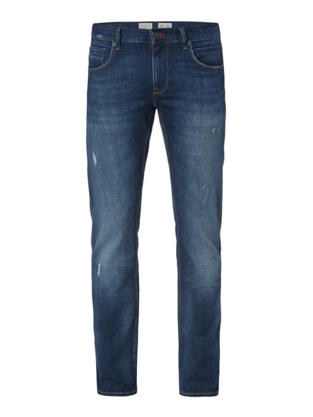 Tommy Hilfiger Straight Fit Jeans im Used Look Marineblau
