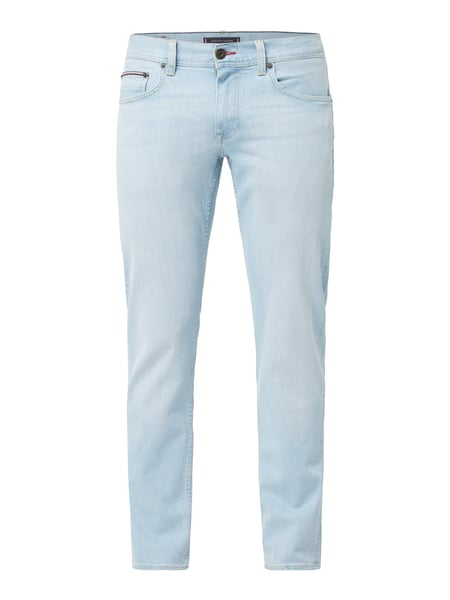 Tommy Hilfiger Straight Fit Low Rise Jeans mit Label-Patch Blau / Türkis - 1