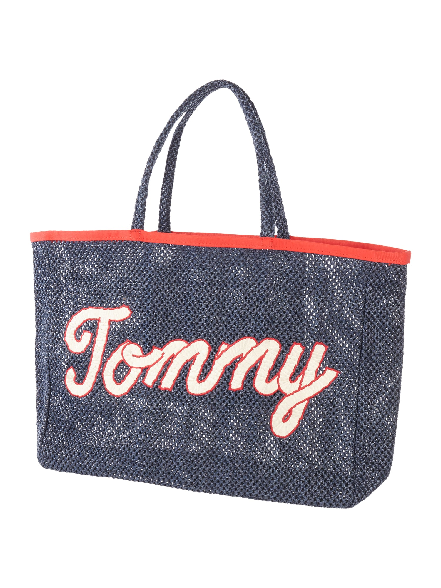 tommy hilfiger strandtasche mit logo aufn her in blau. Black Bedroom Furniture Sets. Home Design Ideas