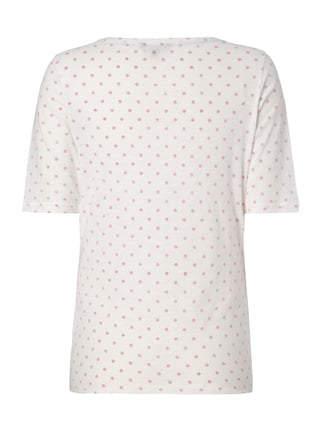 Tommy Hilfiger T-Shirt mit Allover-Muster Hellrosa - 1