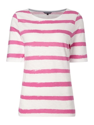T-Shirt mit Allover-Muster Rosé - 1