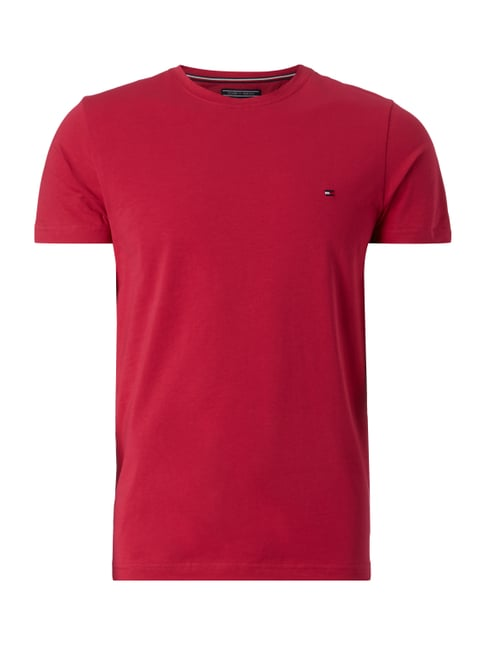 T-Shirt mit Logo-Stickerei Rot - 1