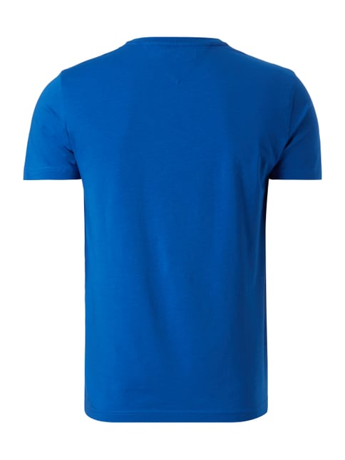 Tommy Hilfiger T-Shirt mit Logo-Stickerei Royalblau - 1