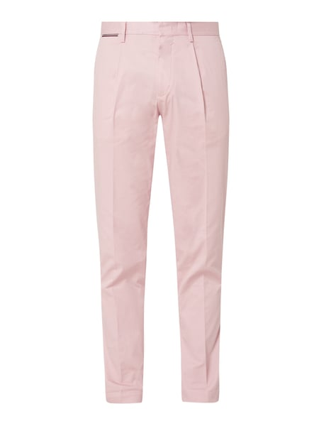 Tommy Hilfiger Tapered Fit Chino mit Stretch-Anteil Rosa - 1