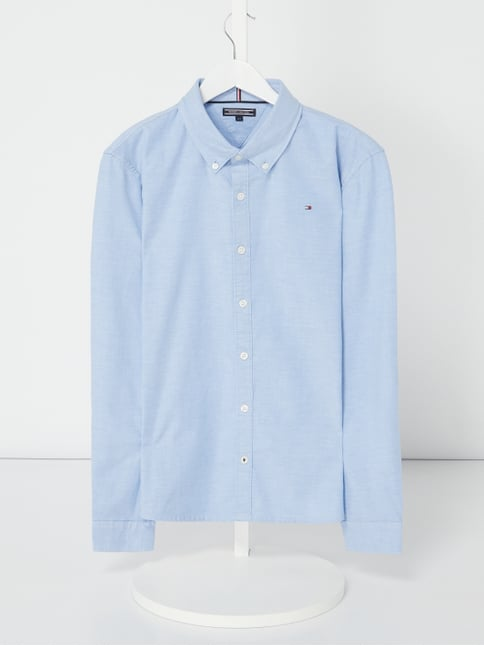 Tommy Hilfiger Slim Fit Hemd mit Button-Down-Kragen Blau   Türkis - 1 ... 54b954781e