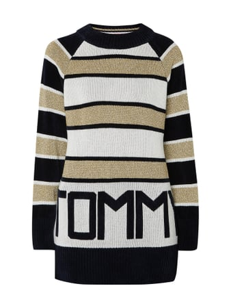 Tommy Hilfiger 'Tommy Icons' Pullover mit Streifenmuster Gelb - 1