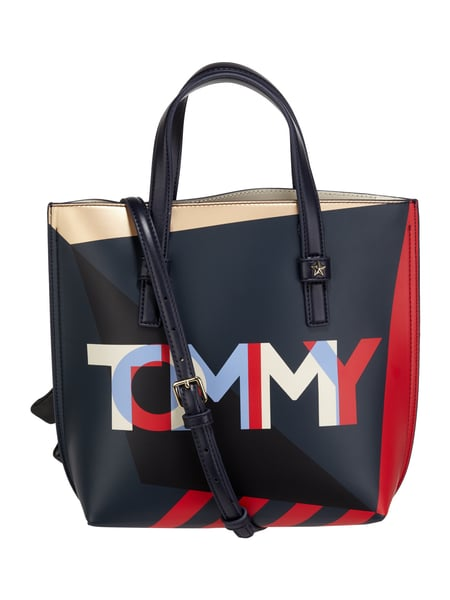 Tommy Hilfiger Th Effortless To - Tote Bag mit Logo-Muster Marineblau