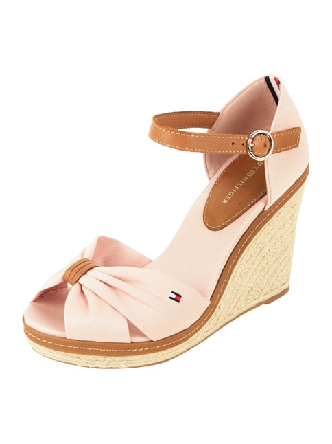 Wedges aus Canvas mit Lederdetails Rosé - 1