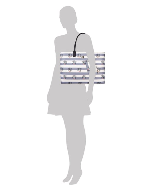 Tommy Hilfiger Wende-Shopper mit Allover-Muster in Blau / Türkis - 1