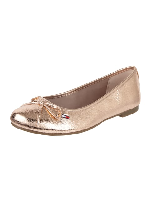 Ballerinas in Metallicoptik Rosé - 1