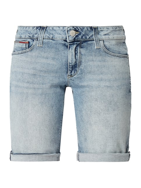5698a16d Tommy Jeans Bleached Tapered Fit Jeansshorts Blau / Türkis - 1 ...