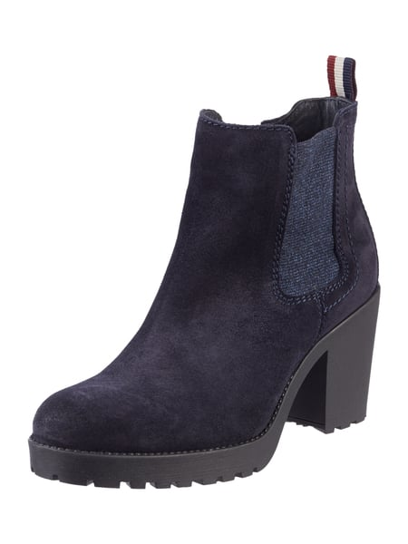 tommy jeans chelsea boots aus veloursleder in blau t rkis online kaufen 9684166 p c online. Black Bedroom Furniture Sets. Home Design Ideas