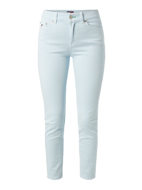 Coloured High Waist Jeans mit Stretch-Anteil Blau / Türkis - 1
