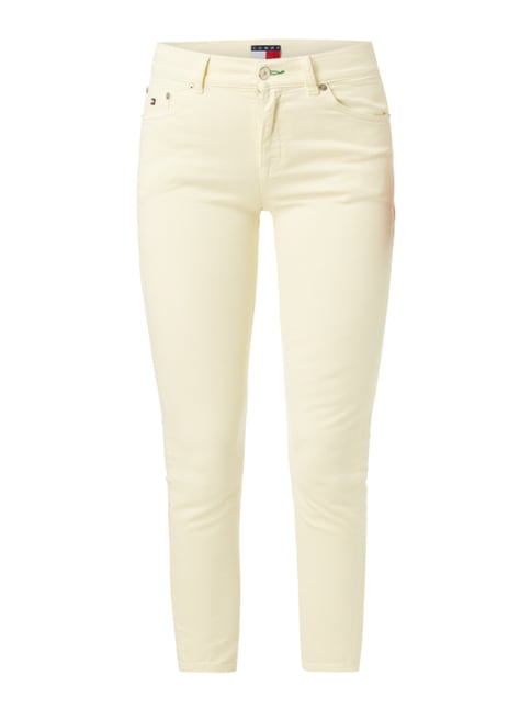 Coloured High Waist Jeans mit Stretch-Anteil Gelb - 1