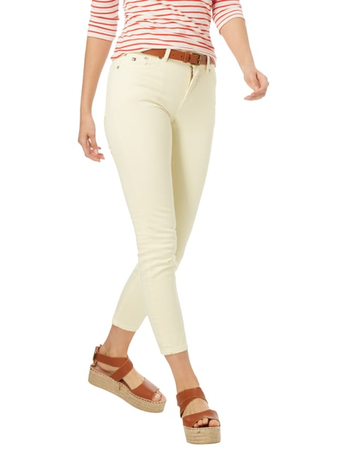 Hilfiger Denim Coloured High Waist Jeans mit Stretch-Anteil Hellgelb - 1