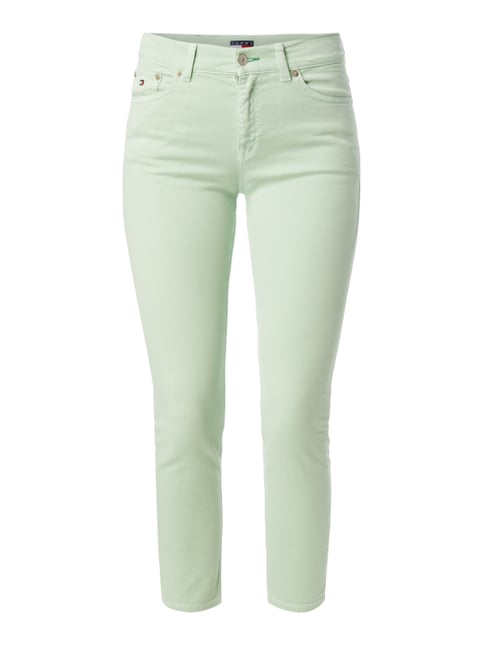 Coloured High Waist Jeans mit Stretch-Anteil Grün - 1
