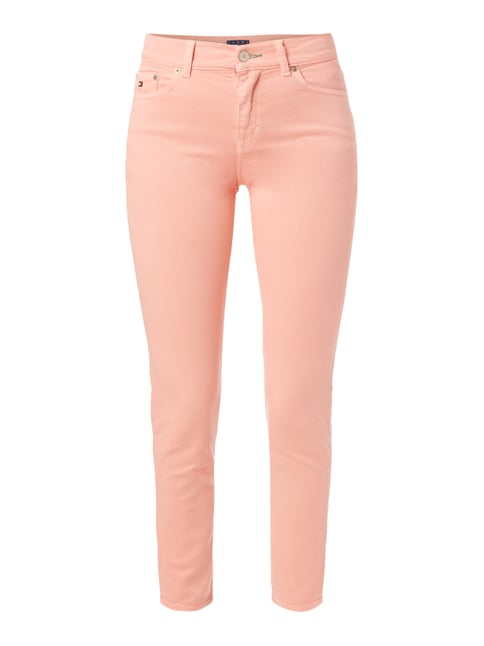 Coloured High Waist Jeans mit Stretch-Anteil Rosé - 1