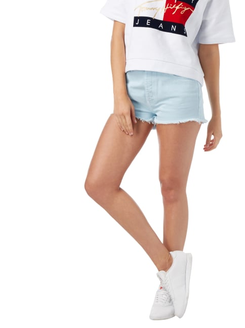Hilfiger Denim Coloured High Waist Jeansshorts Hellblau meliert - 1