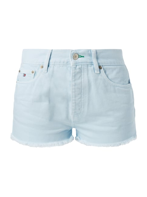 Coloured High Waist Jeansshorts Blau / Türkis - 1