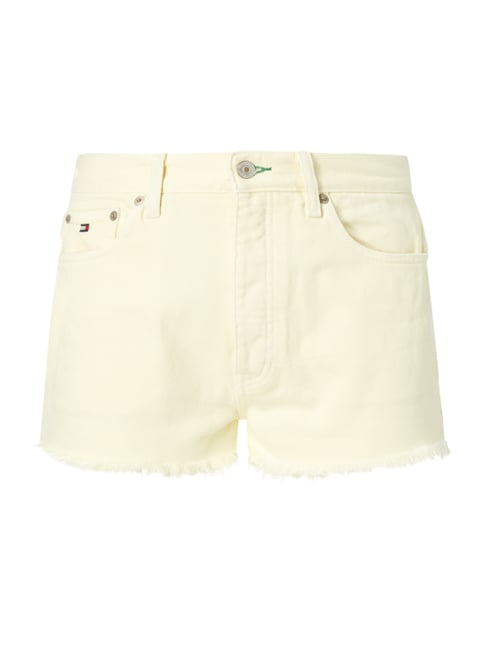 Coloured High Waist Jeansshorts Gelb - 1