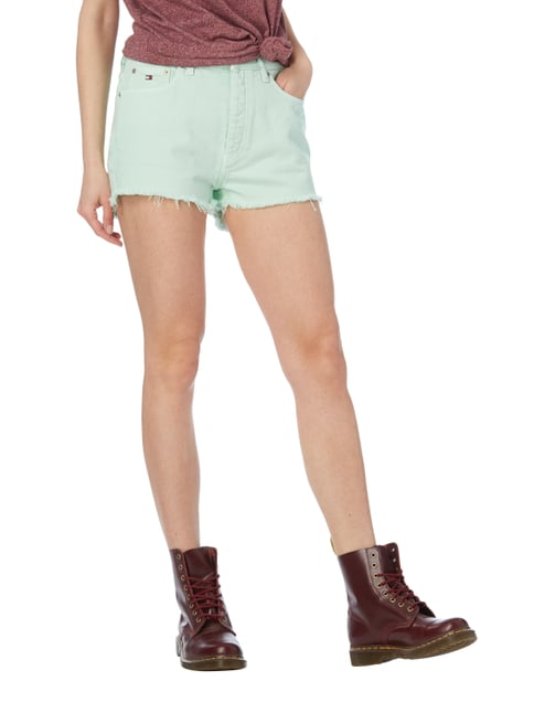 Hilfiger Denim Coloured High Waist Jeansshorts Mint - 1