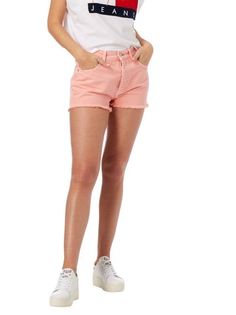 Hilfiger Denim Coloured High Waist Jeansshorts Rosé - 1