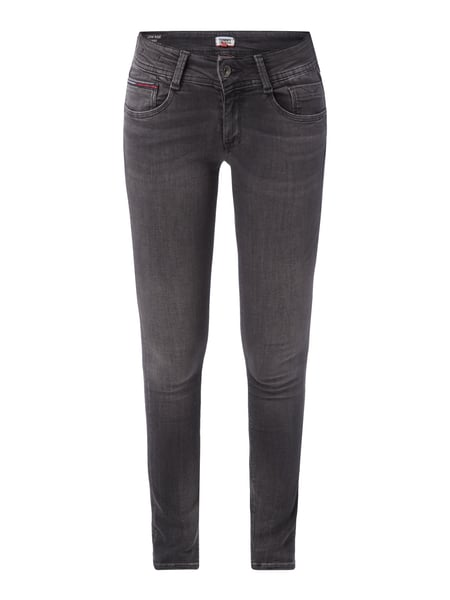 Tommy Jeans Low Rise Skinny - Coloured Skinny Fit 5-Pocket-Jeans Mittelgrau