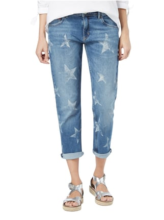 Hilfiger Denim Cropped Straight Fit Jeans mit Sternenmuster Jeans - 1